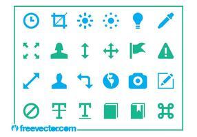 Vector iconen instellen