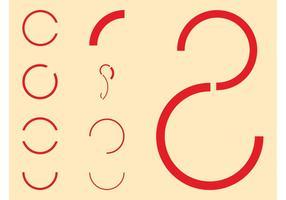Conjunto de curvas y círculos