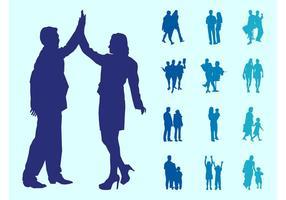 Les gens dans les modèles de silhouettes de couples