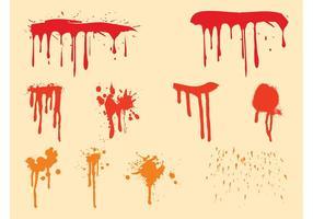 Juego de gotas de pintura