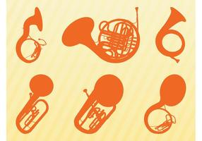 Brass Instruments Silhouettes