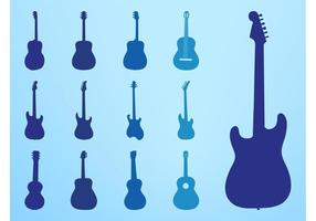 Gitarren-Silhouetten-Set