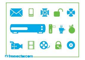 Símbolos e iconos de la tecnología