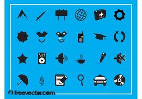 Conjunto de ícones aleatórios