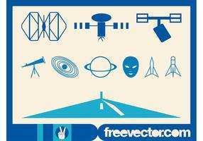 Space Exploration Graphics Set