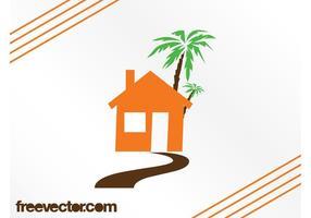 Haus und Palme