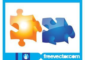 3D-Puzzle-Stücke