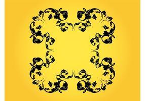 Diseño floral del marco de la vendimia
