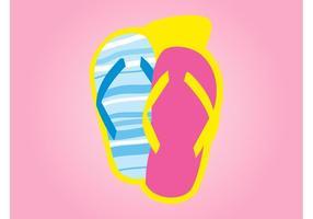 Flip-flops coloridos