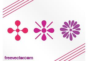 Floral Icons Graphics Elements