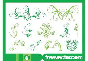 Green Flower Scrolls