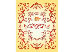 Floral Frame With Swirls