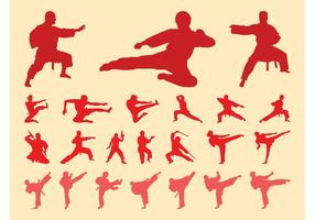 Martial Arts Silhouetten Set