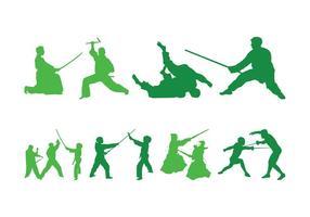 Lucha contra las siluetas de la gente