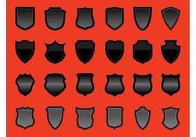 Conjunto de gráficos vectoriales de escudos