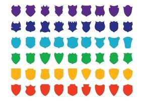 Conjunto de escudos coloridos