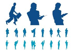 Ensemble Silhouette Businesspeople