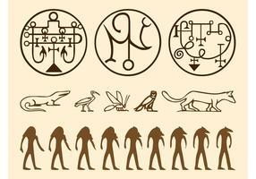 Egyptian Symbols Graphics