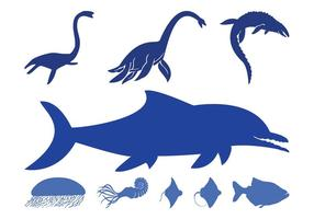 Sea Animals Silhouettes Pack