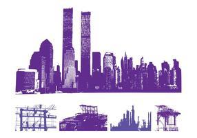 Urban-skylines-graphics-set