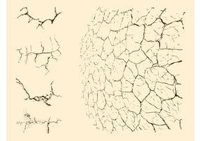 Gráficos de suelo agrietados