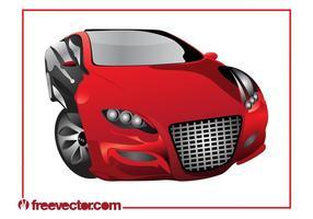Gráficos rojos del coche de deportes
