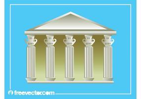 Griechische Gebäudegrafik