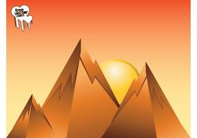 Design de lever de soleil en montagne
