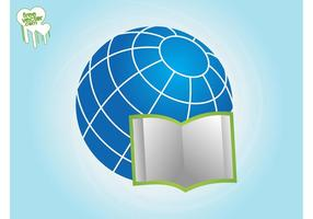 Open Book And Globe