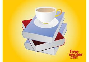 Books And Tea Vector