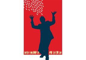 Geschäftsmann-Plakat-Schablone