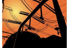 Power Lines Background