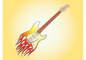 Brinnande gitarrgrafik