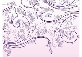 Gráficos vetoriais de rolos florais