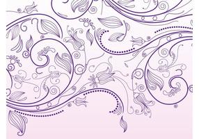 Floral Scrolls Vector Grafiek