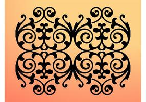 Floral Swirls Silhouette