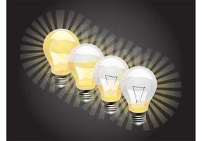 Gráficos de las bombillas que brillan intensamente