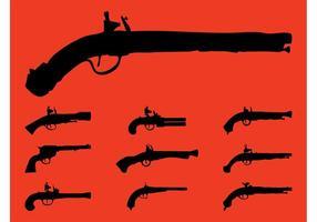 Vintage Guns Silhouetten