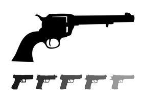 Siluetas de la pistola