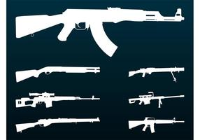Rifles silhouettes set
