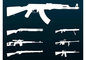 Rifles Silhouettes Set