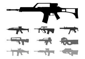 Automatische Waffen Silhouetten