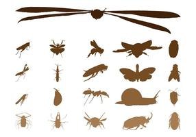 Graphiques de silhouettes d'insectes