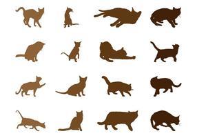Katzen Silhouetten Set