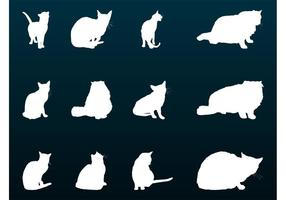 House Cats Silhouettes