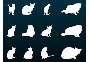 Silhuetas de gatos de casa