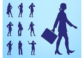 Geschäftsfrauen Silhouetten Set