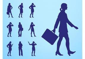 Businesswomen Silhouettes Set