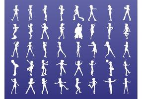Cute Girls Silhouettes