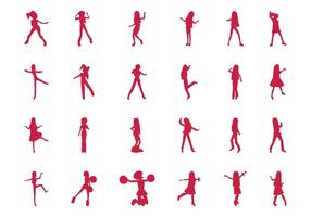 Jumping And Dancing Girls Set
